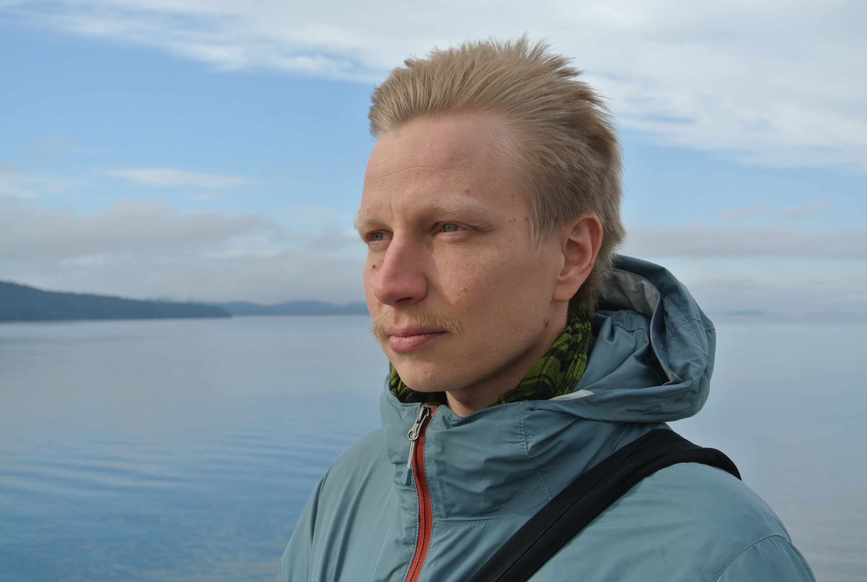 Facing with the wind heading to Vancouver island | Portrait by Sanna Kyllönen