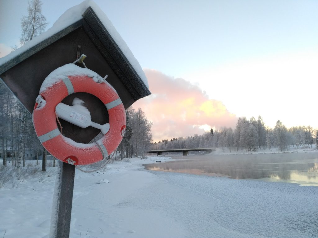 Life buoy at Pajakkakoski | Photo by Sanna Kyllönen