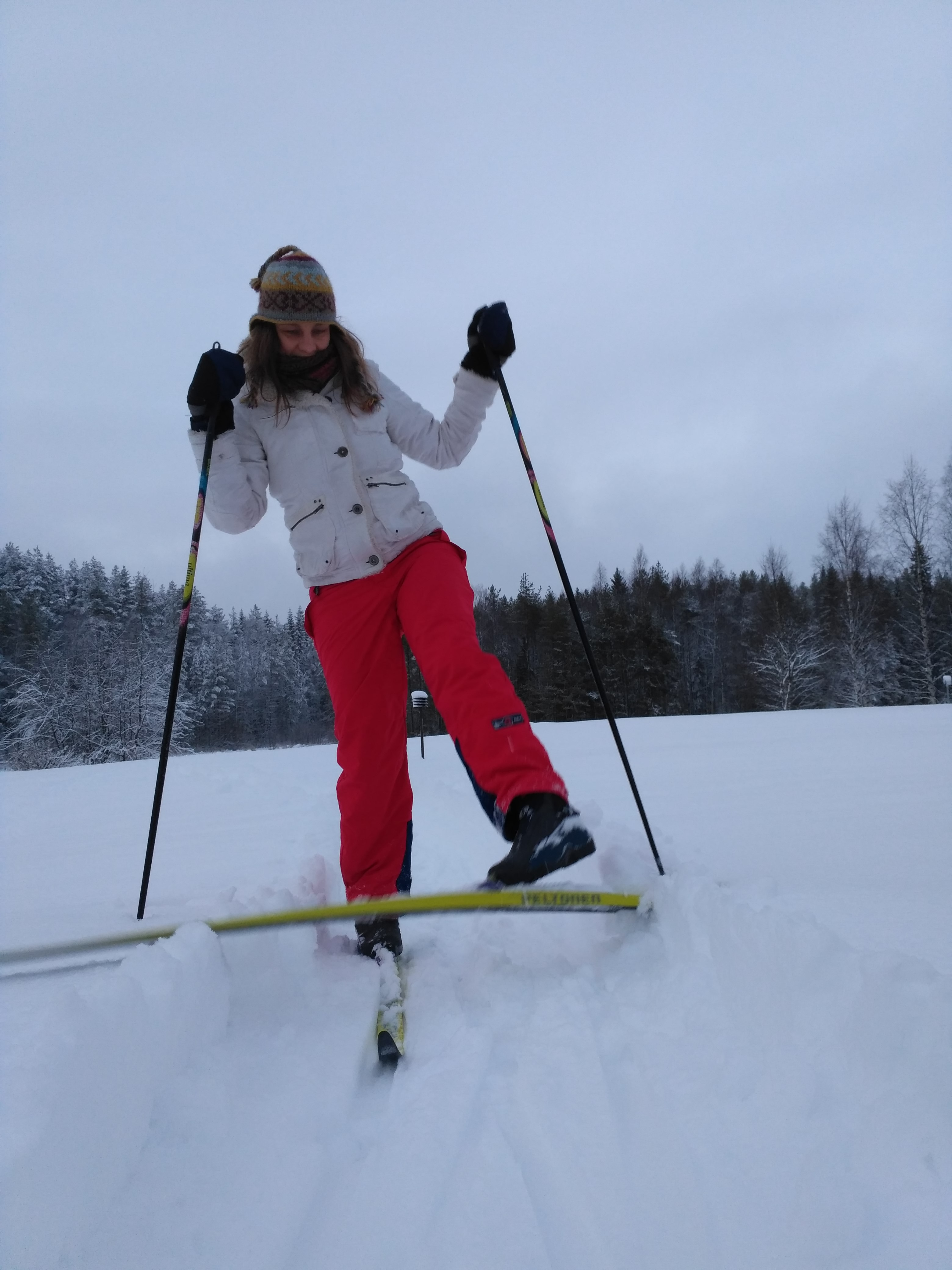 Skiing practise every once in a while   Photo by Mika Majaranta
